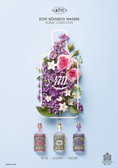 4711 Floral Collection Jasmin, Rose, Flieder, Magnolie